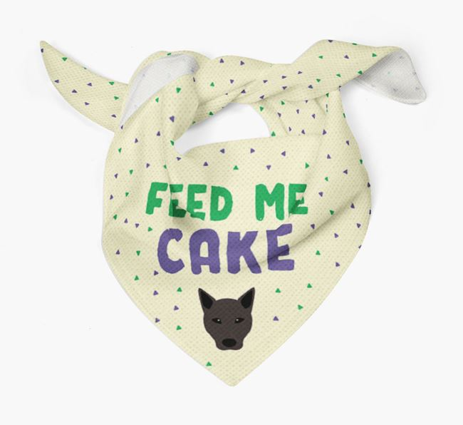 'Feed Me Cake' Bandana for your Mixed Breed