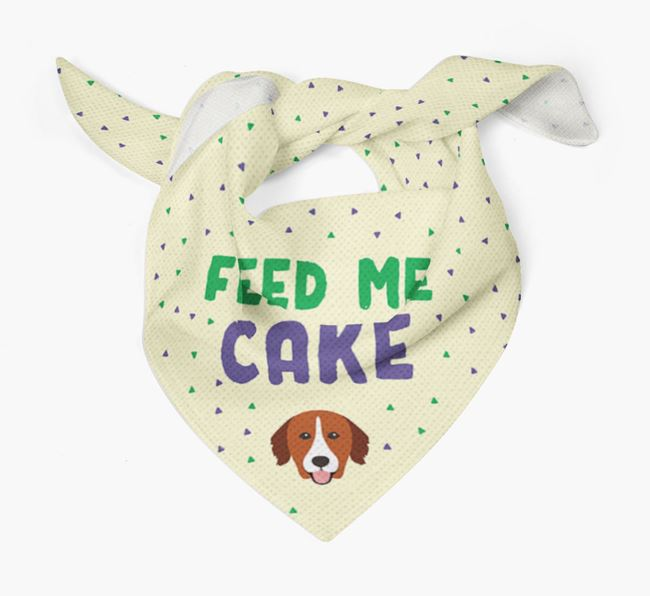 'Feed Me Cake' Bandana for your Nova Scotia Duck Tolling Retriever