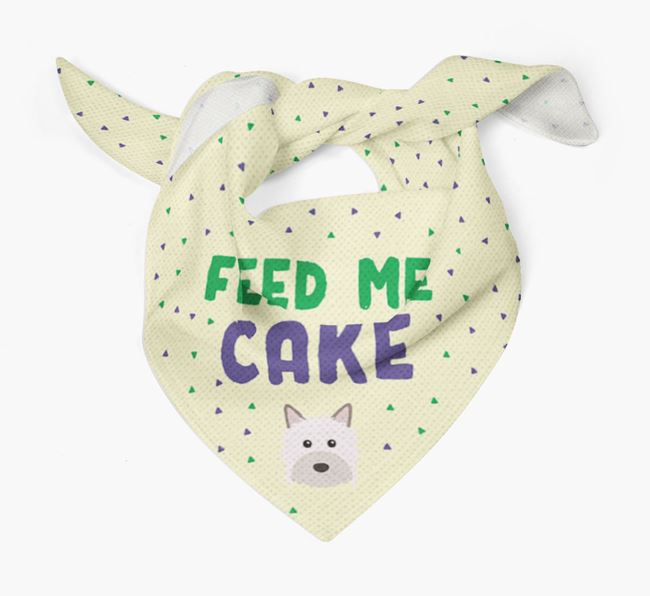 'Feed Me Cake' Bandana for your Powderpuff Chinese Crested