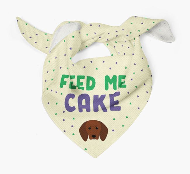 'Feed Me Cake' Bandana for your Redbone Coonhound