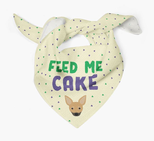 'Feed Me Cake' Bandana for your Russian Toy