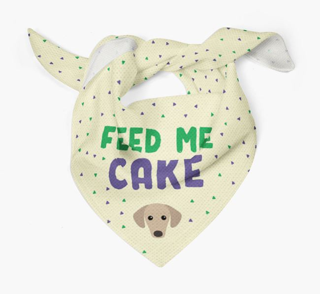 'Feed Me Cake' Bandana for your Sloughi