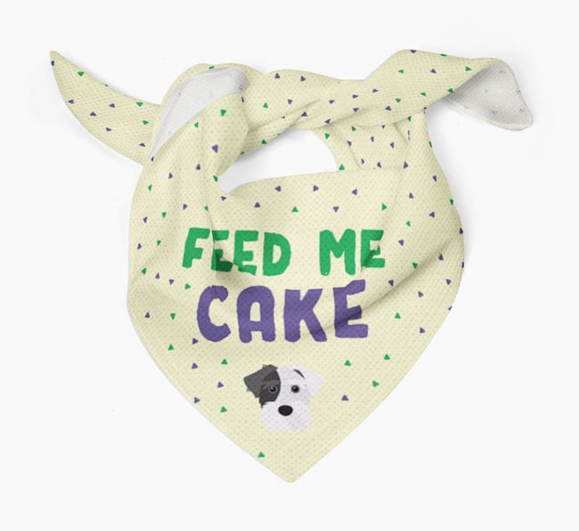 'Feed Me Cake' Bandana for your Sporting Lucas Terrier