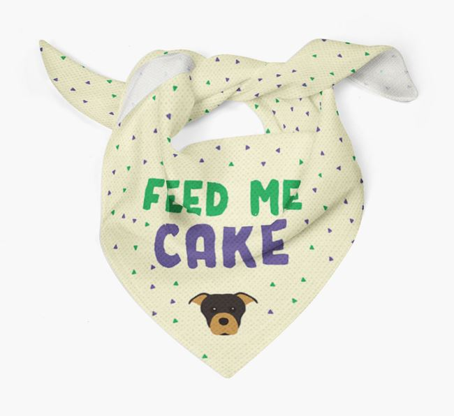 'Feed Me Cake' Bandana for your Staffordshire Bull Terrier