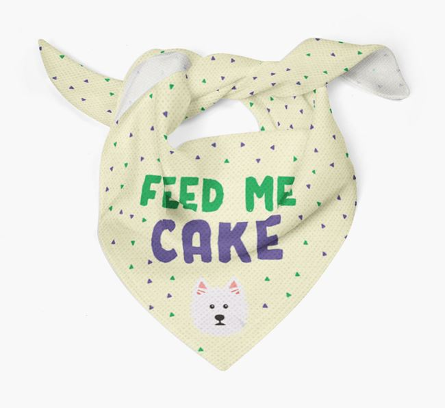 'Feed Me Cake' Bandana for your West Highland White Terrier