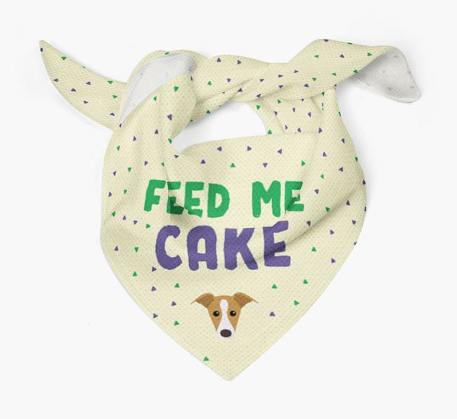 'Feed Me Cake' Bandana for your Whippet