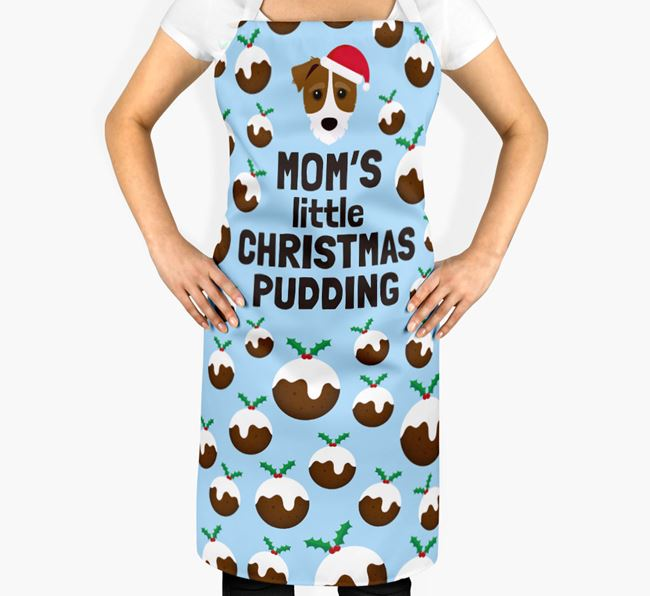 'Mom's Little Christmas Pudding' Apron with Jack-A-Poo Icon