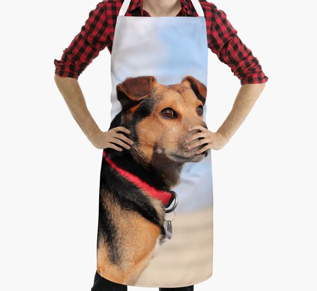 Personalised Apron with Photo of your Bearded Collie