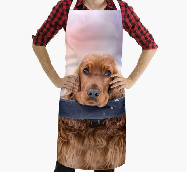Personalised Apron with Photo of your Cocker Spaniel