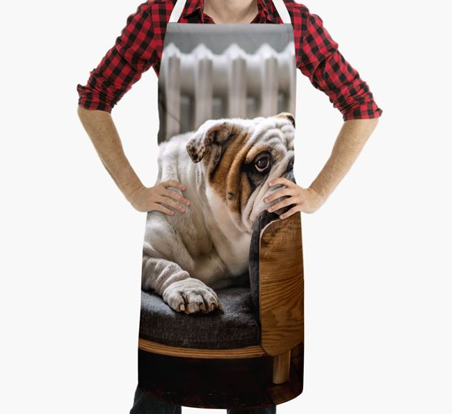 Personalised Apron with Photo of your English Bulldog