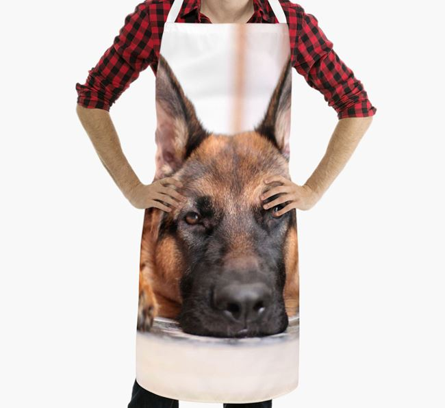 Personalised Apron with Photo of your German Shepherd