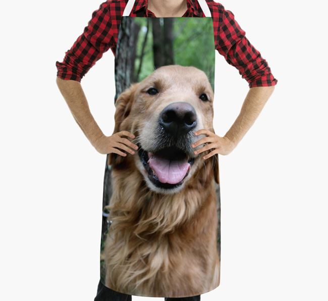 Personalised Apron with Photo of your Golden Retriever