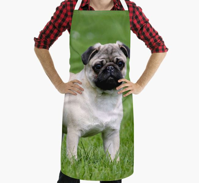 Personalised Apron with Photo of your Pug