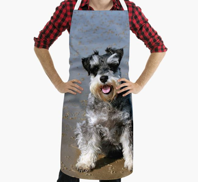 Personalised Apron with Photo of your Schnauzer