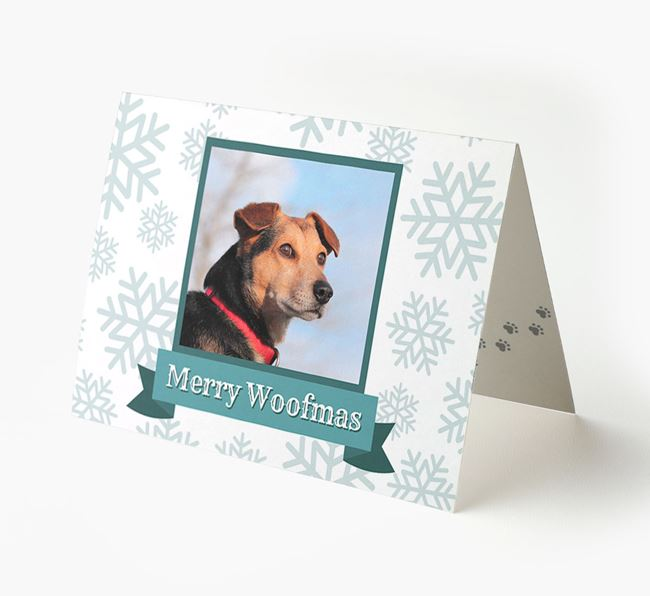 'Merry Woofmas' Card with Photo of your Great Dane