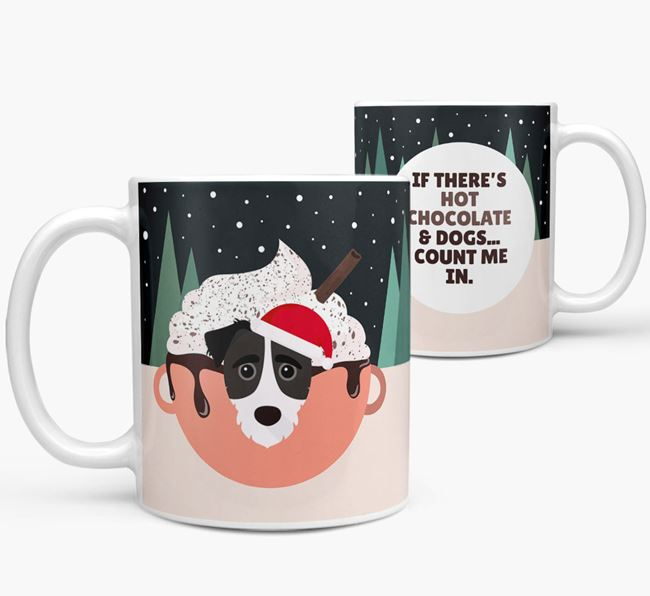 'Hot Chocolate and Dogs' Mug with Jack-A-Poo Icon