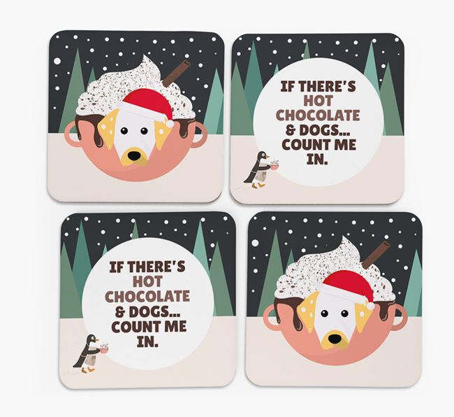 'Hot Chocolate and Dogs' - Personalised Dalmatian Coasters