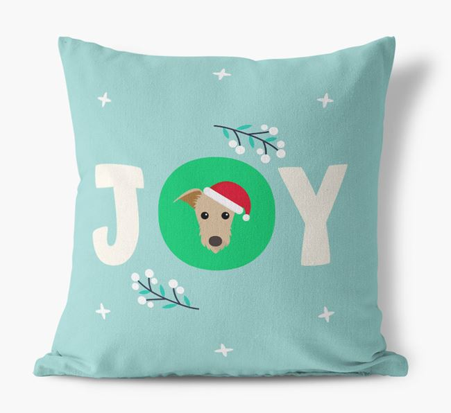 Christmas 'Joy' - Lurcher Canvas Pillow