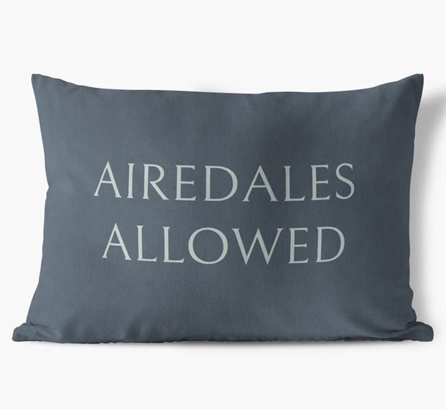 Airedales Allowed Faux Suede Cushion