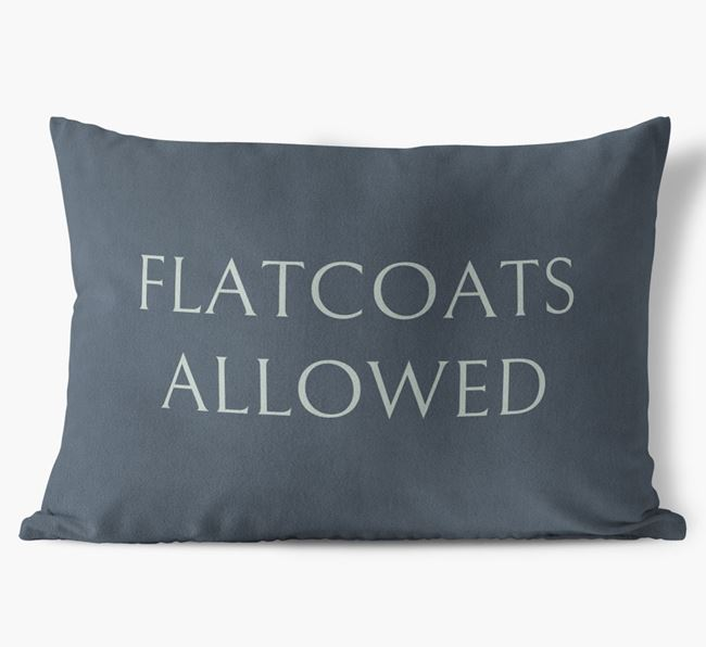 Flatcoats Allowed Faux Suede Pillow