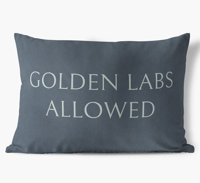 Golden Labs Allowed Faux Suede Pillow