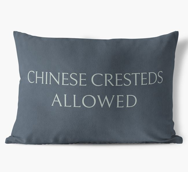 Chinese Cresteds Allowed Faux Suede Cushion