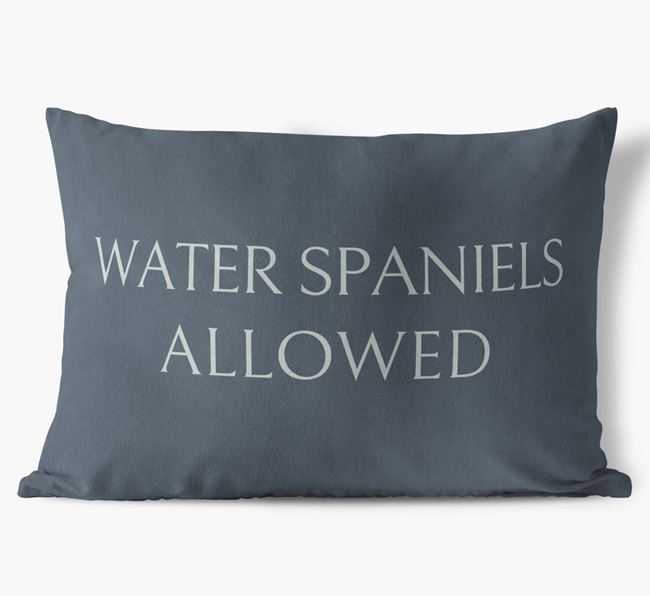 Water Spaniels Allowed Faux Suede Cushion