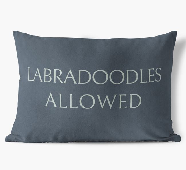 Labradoodles Allowed Faux Suede Pillow