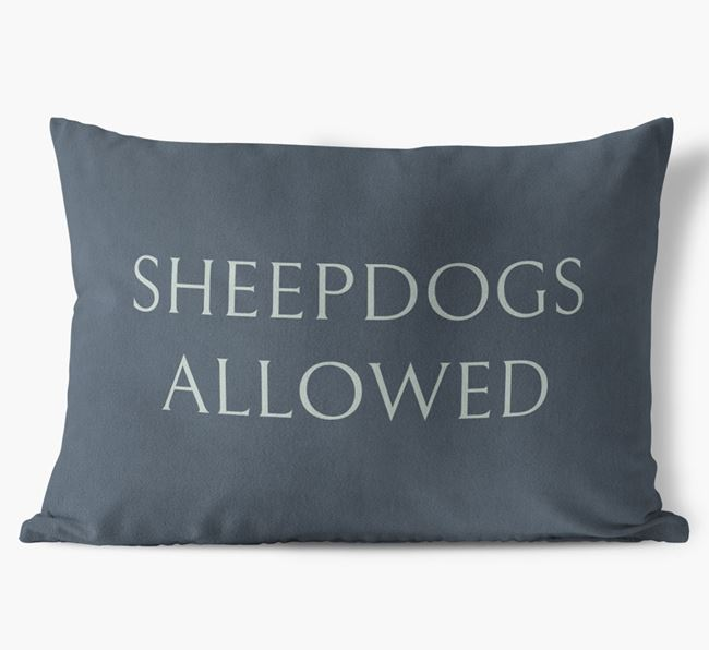 Sheepdogs Allowed Faux Suede Cushion