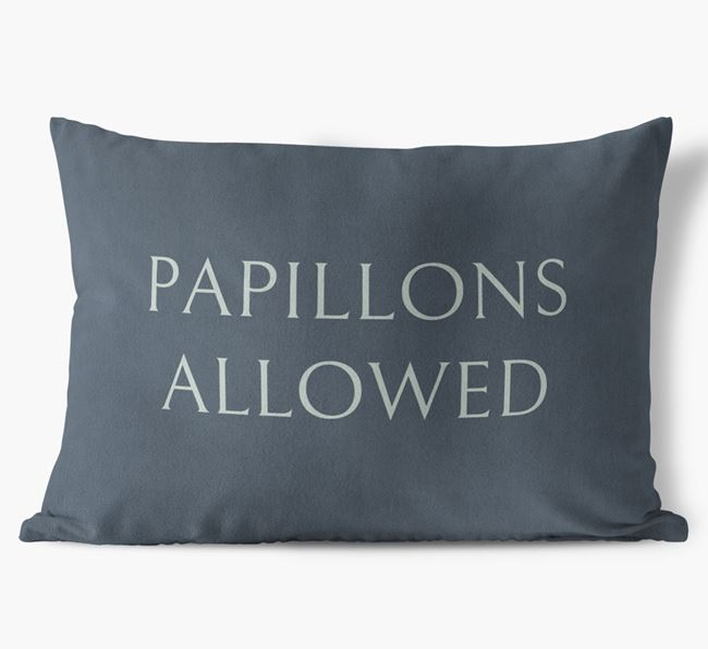 Papillons Allowed Faux Suede Pillow