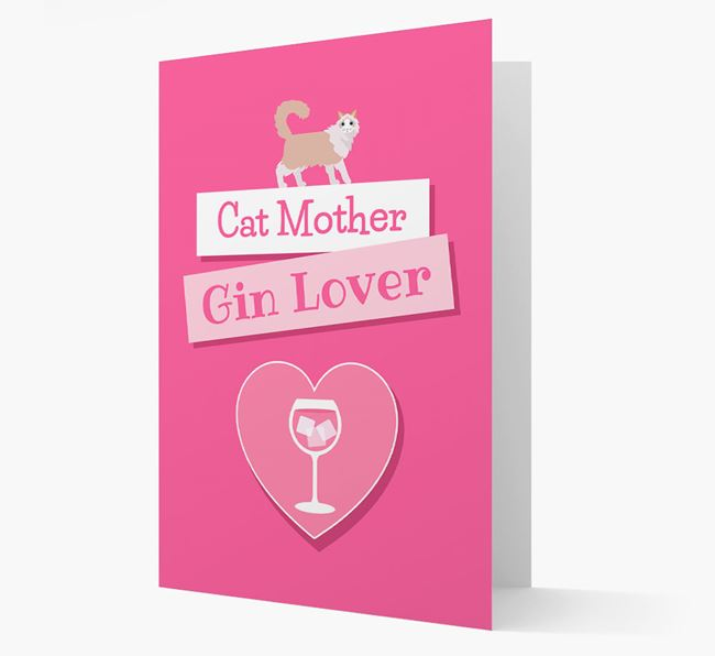 'Cat Mother, Gin Lover' - Personalized Cat Card