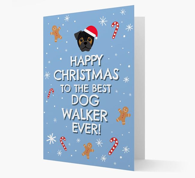 'Happy Christmas to the Best Dog Walker' - Personalized Jug Christmas Card