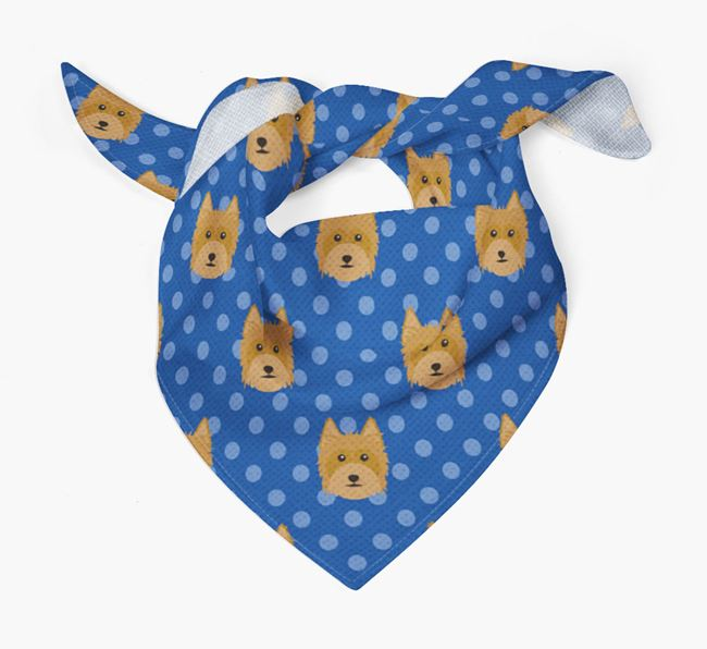 Silky Terrier Icon Pattern Bandana