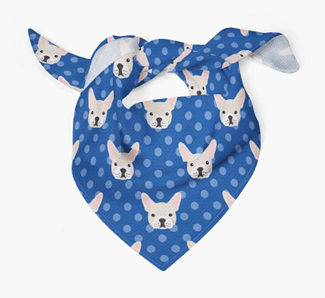 Frenchie Icon Pattern Bandana