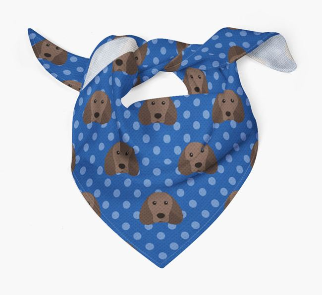 Water Spaniel Icon Pattern Bandana