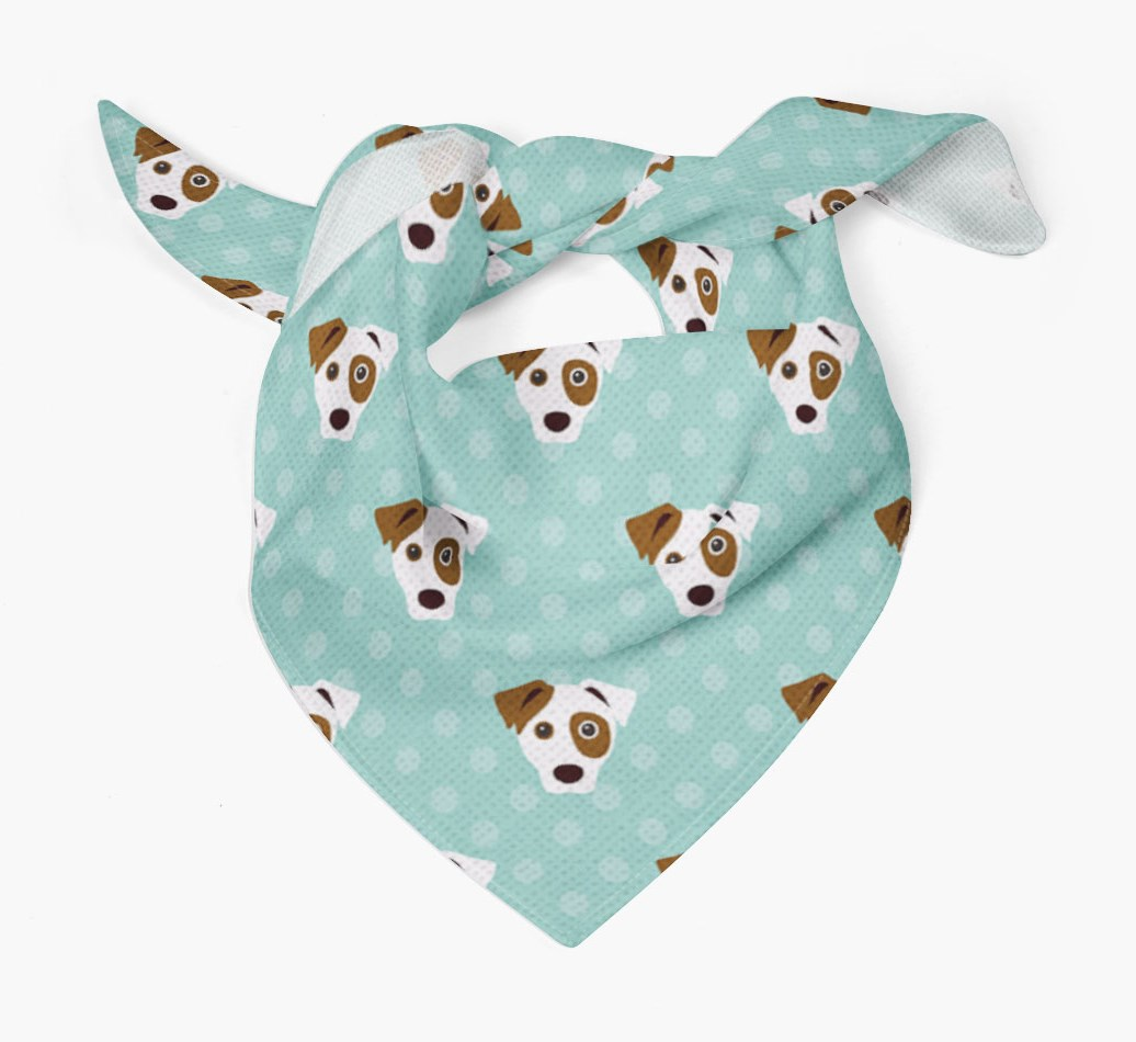{colour} Dog Bandana With Yappicons Tied
