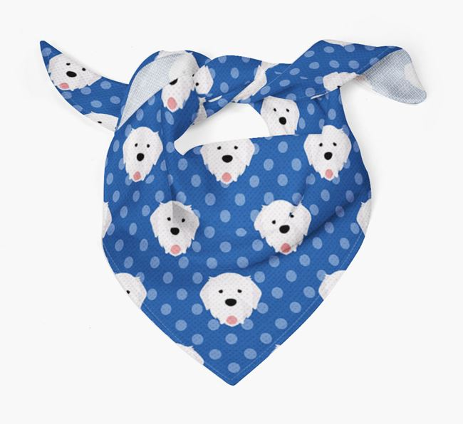 Pyrenean Mastiff Icon Pattern Bandana