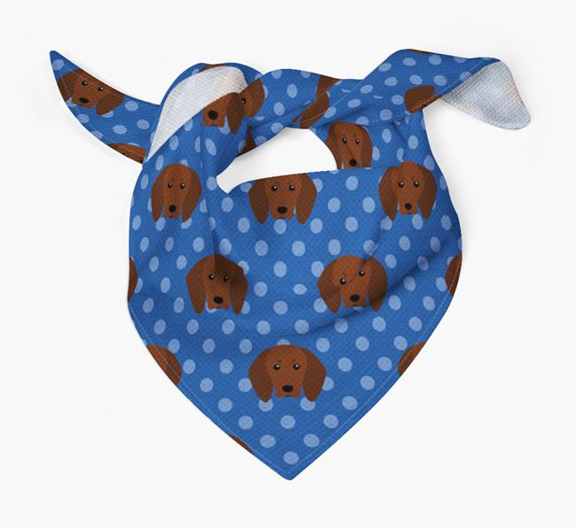 Redbone Coonhound Icon Pattern Bandana