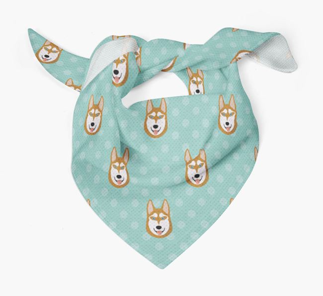Husky Icon Pattern Bandana