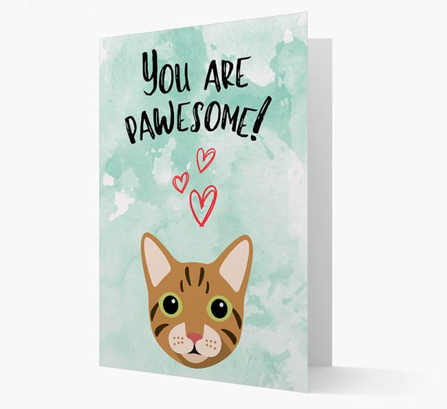 'You are pawsome!' - Personalized Cat Card