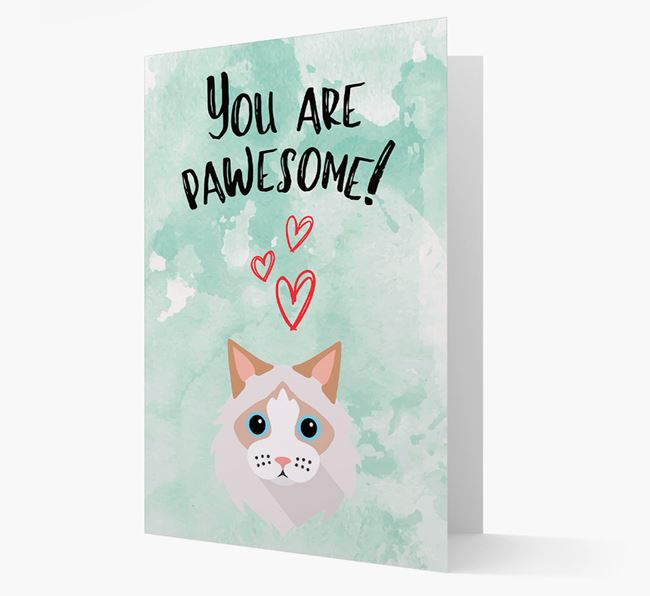 'You Are Pawesome!' - Personalised Cat Card