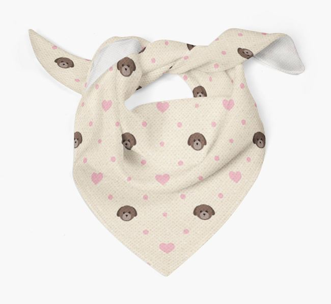 Dog Bandana with Yappicons & Hearts for {dogsName}