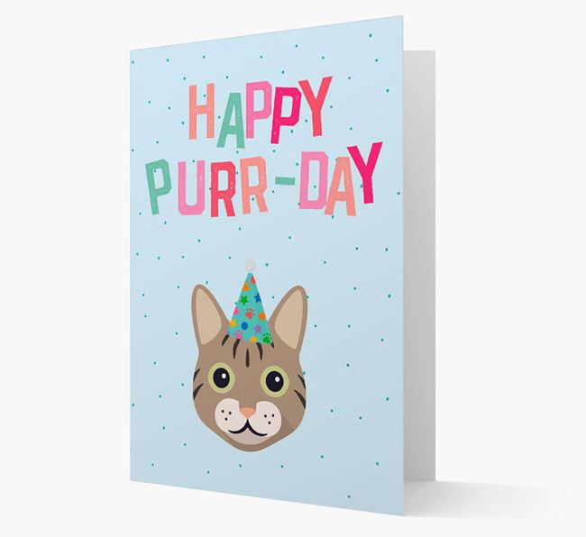 'Happy Purr-Day' - Personalized Cat Card