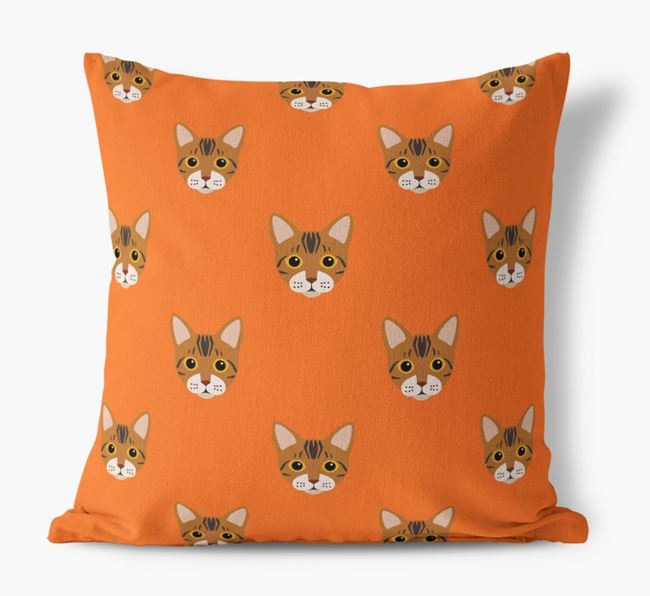 'Bengal Icon Pattern' - Personalized Canvas Cushion