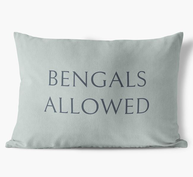 'Bengals Allowed' - Personalised Soft Touch Cushion