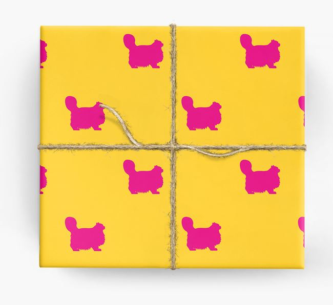 'Cat Silhouettes' - Personalized Wrapping Paper