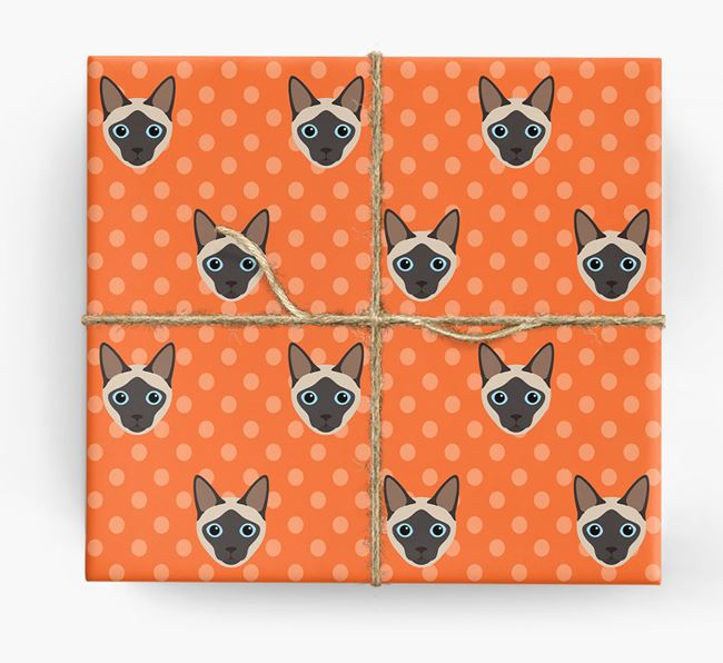 'Siamese Icons & Spots' - Personalized Wrapping Paper
