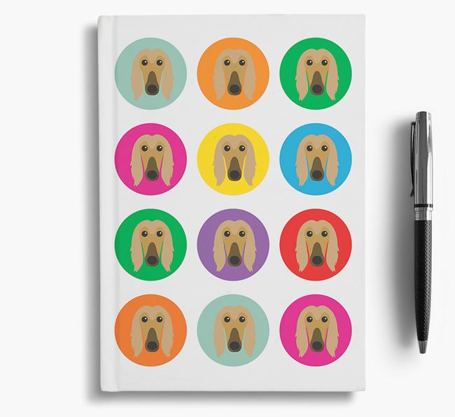 Afghan Hound Icons Notebook