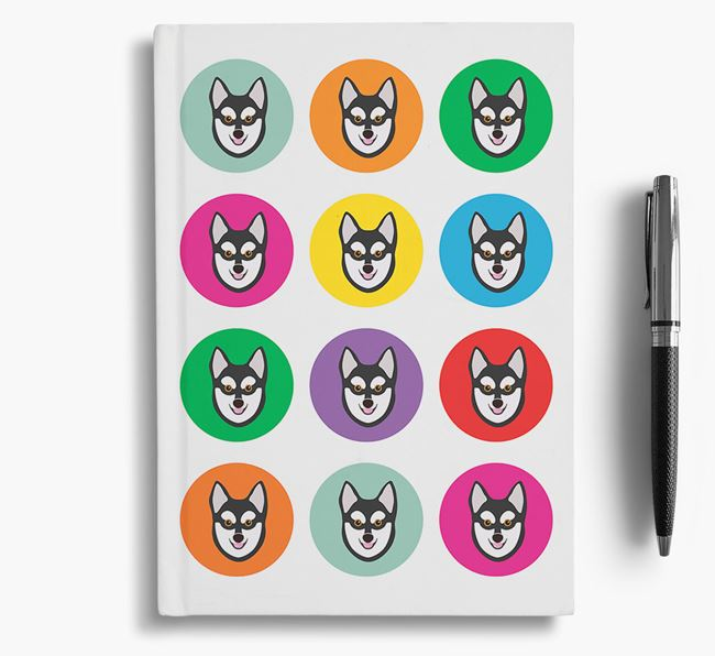Alaskan Klee Kai Icons Notebook