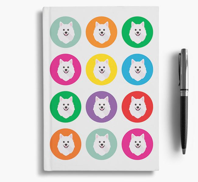American Eskimo Icons Notebook